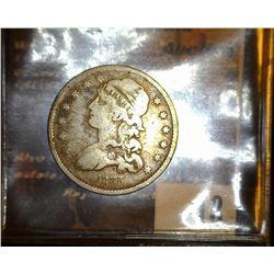 18. 1835 Capped Bust Quarter, VG.