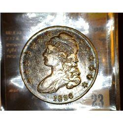 23. 1836 Capped Bust Half Dollar, full original toned EF.