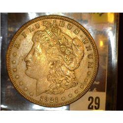 29. 1921 P U.S. Morgan Silver Dollar, VF+.