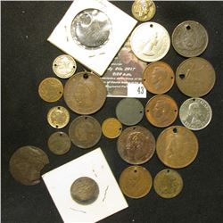 43.    (22) Holed or damaged Foreign or Canadian Coins. A very interesting and varied group.