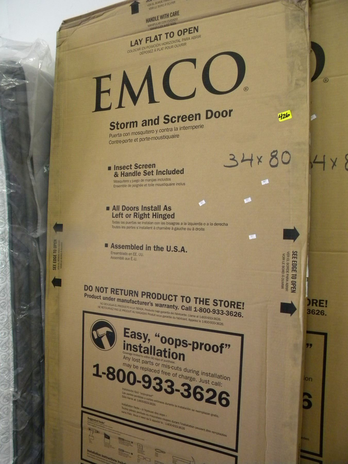 new white emco 200 series triple track 34x80