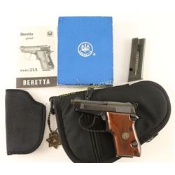 Beretta Mod 21A .22 LR SN: BAS25533U