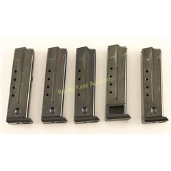 5 Magazines for 9mm Ruger P-Series Pistols