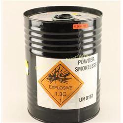 Barrel of Smokeless Powder