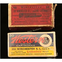 Lot of Vintage .351 Ammo