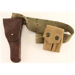 Belt with US Holster & Ammo Pouch