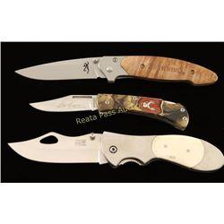 Lot of (3) Pocket Knives