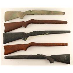 Lot of 5 Rifle Stocks