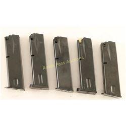 5 Beretta 92F 9mm Magazines