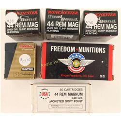 Lot of 44 Rem Mag Ammo