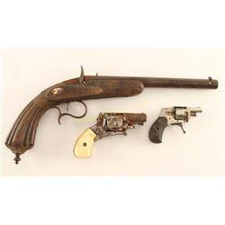 Lot of 3 Antique Pistols