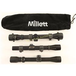 Collection of 3 Rifle Scopes