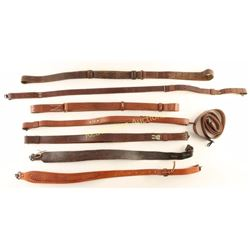 Collection of 8 Leather Slings