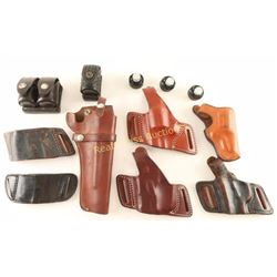 Lot of 6 Leather Holsters