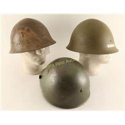 Lot of 3 Helmets