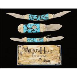 Lot of 3 ArrowHead Pocket Knives