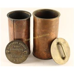 Lot of 2 Copper Flare Storage Containers