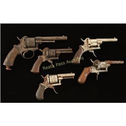 Lot of 5 Antique Revolvers