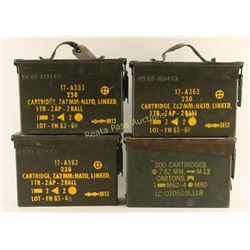 Lot of 4 Small Ammo Cans