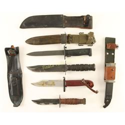 Collection of 4 Military Edged Weapons