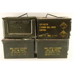 Lot of 4 Ammo Cans