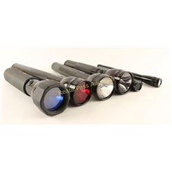Lot of 7 Mag-Lite Flashlights