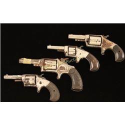 Lot of 4 Antique Spur Trigger Revolvers