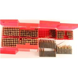 Lot of 6mm Rem Ammo & Brass