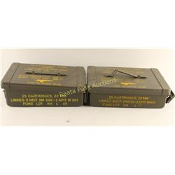 Lot of 2 Ammo Cans