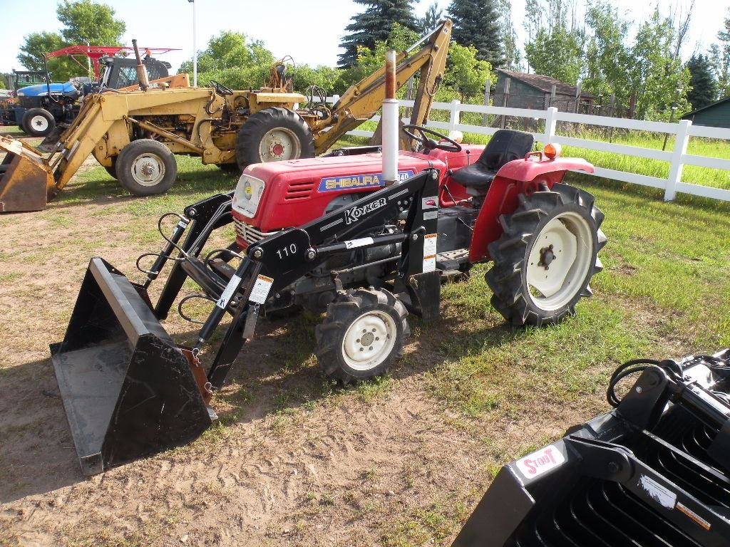 Shibaura SD-184 diesel compact tractor w/Koyker 110 loader-machine has  steering issues