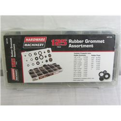 125 Piece Rubber Gromet Assortment