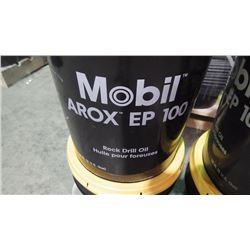4 - 18.9 litre pails of Mobile Airox EP100 Rock Drill oil / hydraulic oil