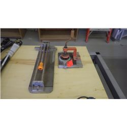 2 tile cutters (1 for square tiles, 1 for round curves and circles