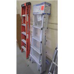 1 unused Master Craft 21' - 36' position aluminum multi task ladder