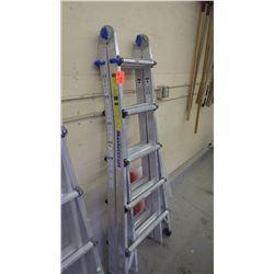 1 Master Craft 21' - 36' position aluminum multi-task ladder