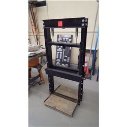 Approximately 10 ton to 20 ton hydraulic steel press (no ram)