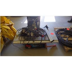Pallet of repairable tools includes roofing torch, MasterCraft table saw and makita angle grinders,