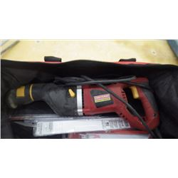 Newer Craftsman electrical sauszall with package of assorted new blades (used once)