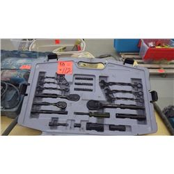 Stanley rust proof complete yool kit with all sockets, wrenches fully intact