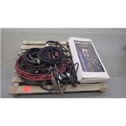 Pallet with air hoses, tiger torches and sievert new turbo roofer combo torch kit