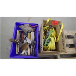 Nylon strapping with banding tool plus variety of trowels and clamps