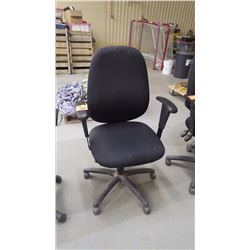 Black cloth adjustable office chair (very good condition)