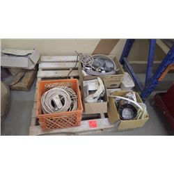 Pallet with misc electrical items