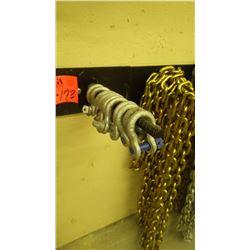 "11 - 1/2"" shacles plus 10' chain rack"