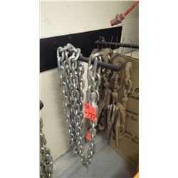 "1 - 3/8""x16' chains with grab hook ends"