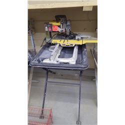 12' DeWalt tile saw - 110v