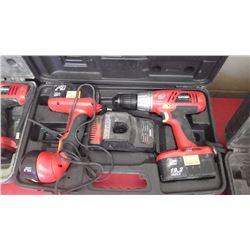 Craftsman 19.2v cordless drill and flashlight combo
