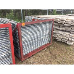 Twenty five 6' Scaffold frames with scaffold rack