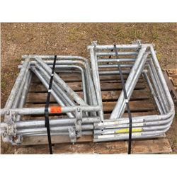 Pallet of Ten Clamp on scaffold out riggers