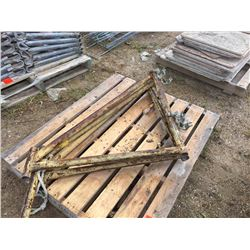 Three clamp on scaffold out riggers